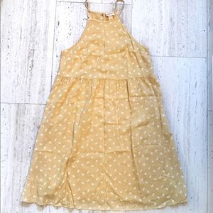 Mossimo Yellow Floral High Neck Sundress XS